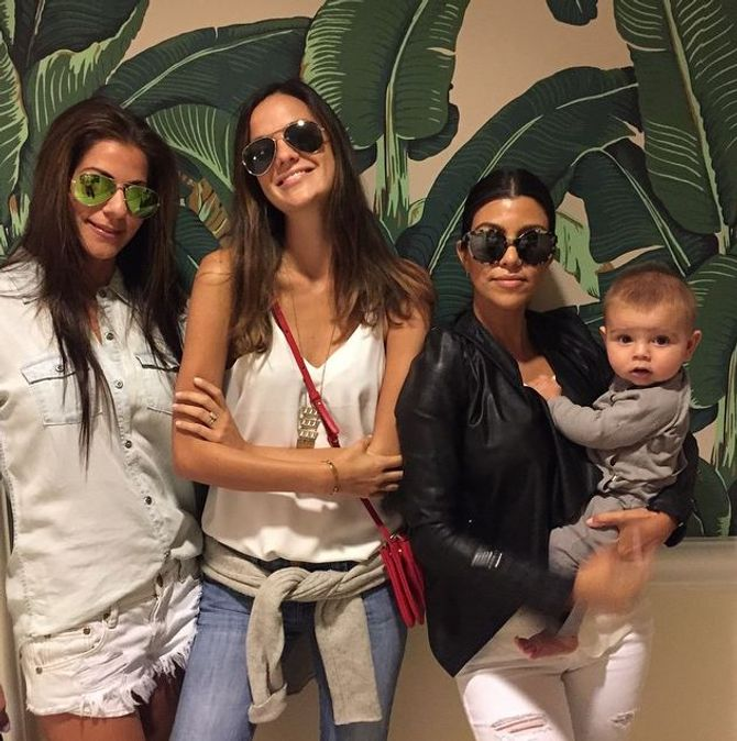 Reign et sa maman Kourtney Kardashian
