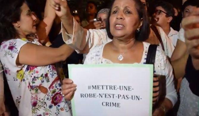 """Manifestation au Maroc en soutien aux deux femmes arrêtées pour """"outrage à la pudeur"""""""