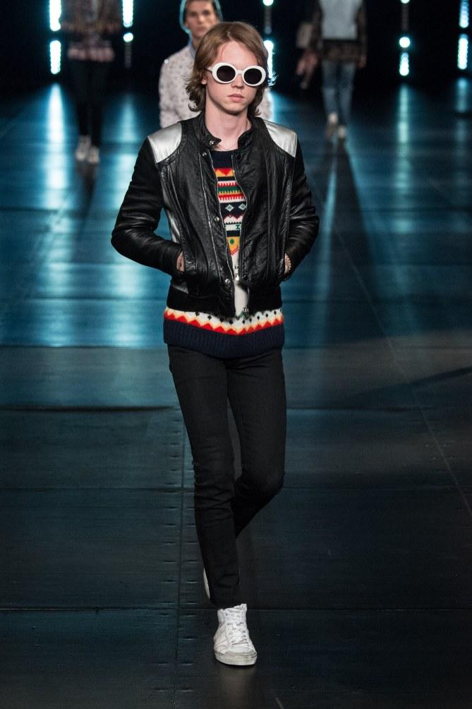 Jack Kilmer au défilé Saint Laurent Automne/Hiver 2015-2016