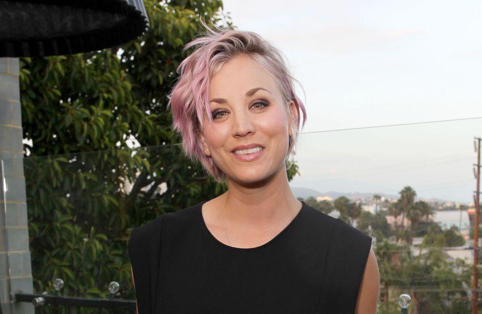 Kaley Cuoco passe au blond platine (Photo)