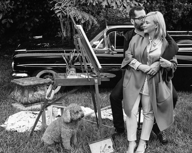 Patricia ritratta con il compagno, l'artista newyorchese Eric White