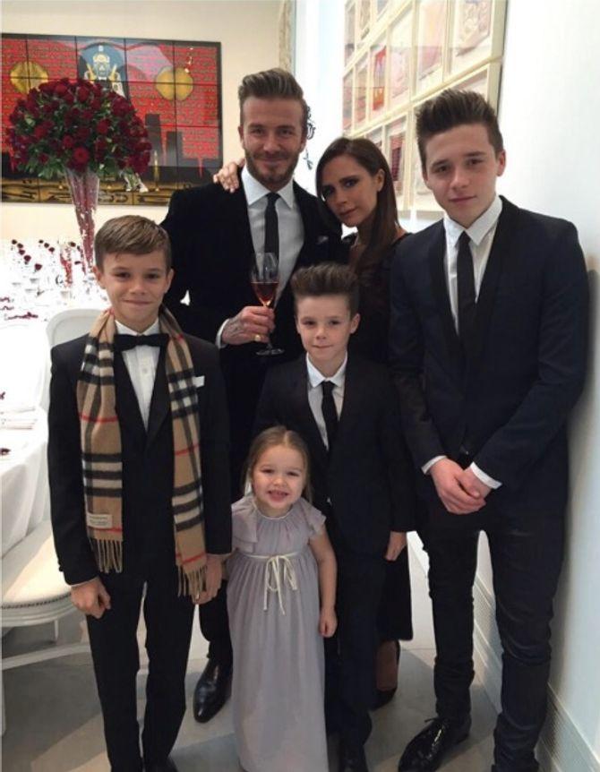 David et Victoria Beckham en famille