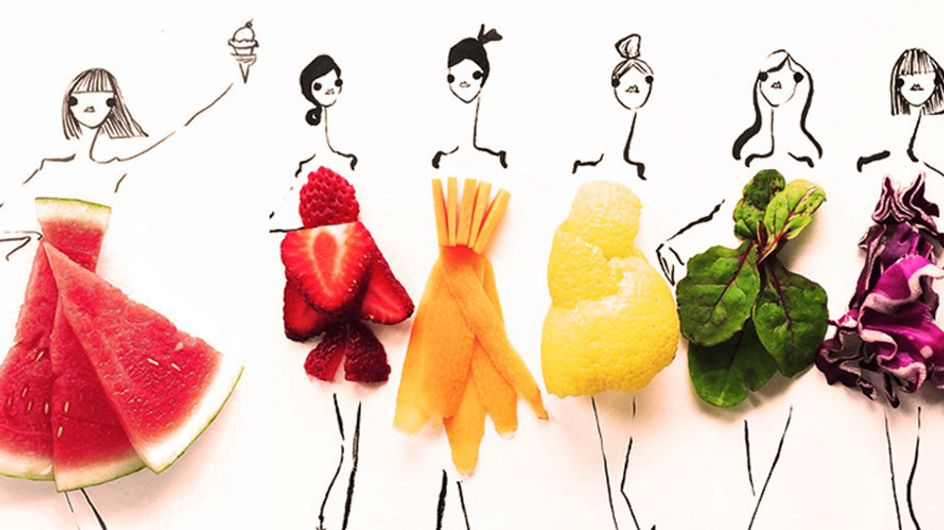 ¿Diseñar moda con alimentos? ¡Una idea muy sabrosa!