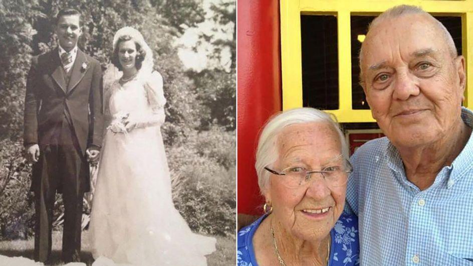 Ihre Liebe hielt über den Tod hinaus: Nach 75 Ehejahren starb dieses Paar Arm in Arm