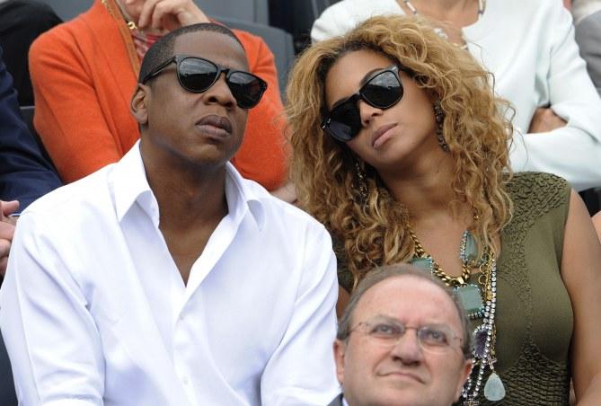 Jay Z et Beyoncé à Roland Garros en 2010