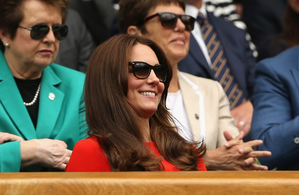 Kate Middleton, rayonnante et flamboyante à Wimbledon (Photos)