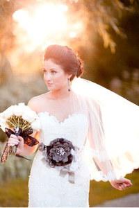 Voile de mariée avec un chignon