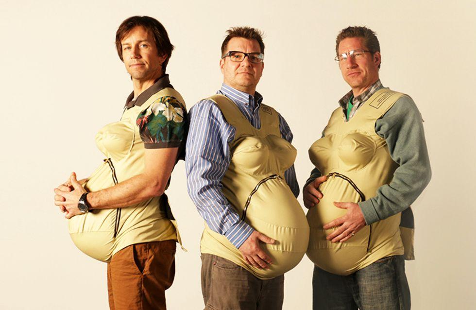 3 papás embarazados intentan vivir como mamás durante 1 mes