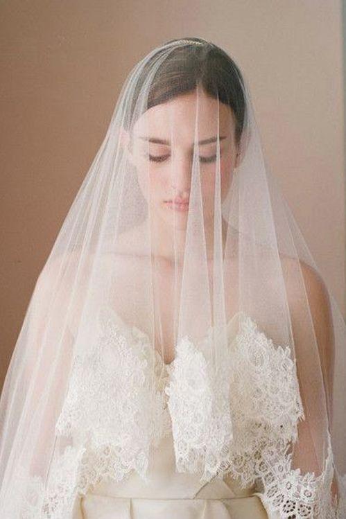 Voile de mariée traditionnel