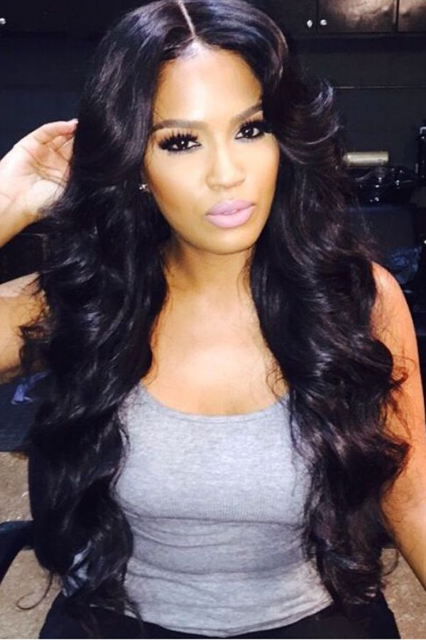 Long Hairstyles For Black Women With Bangs 60