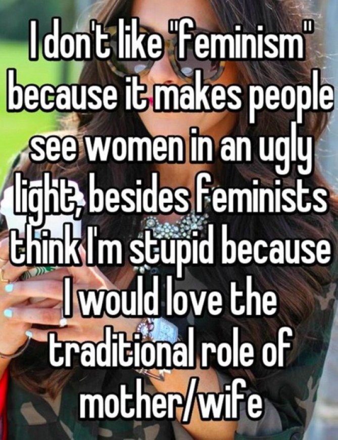Non au féminisme