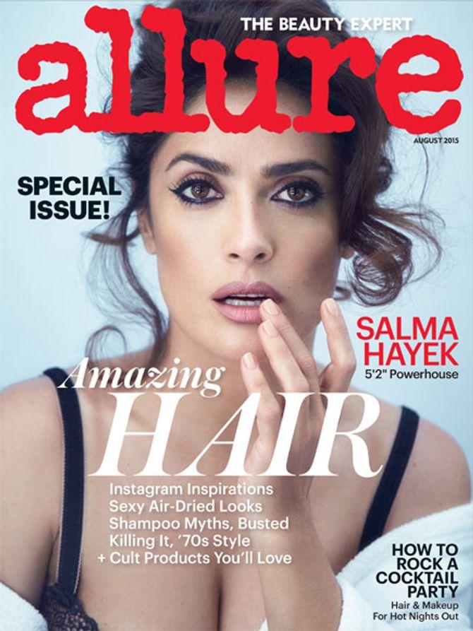 Salma Hayek en couverture d'Allure