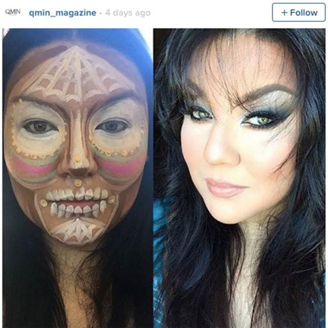 Clown Contouring Makeup