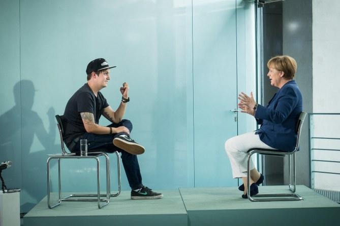 Angela Merkel et LeFloid