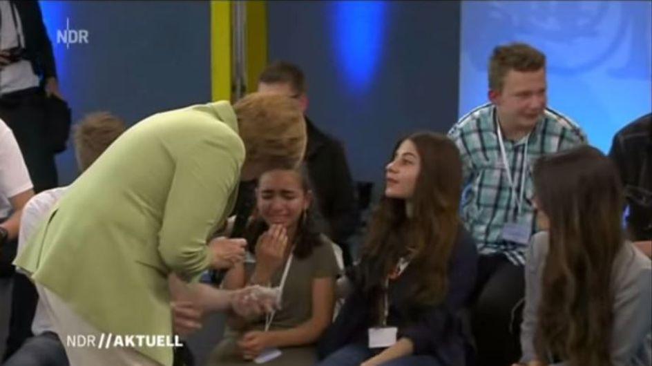 Angela Merkel und das Flüchtlingsmädchen: Über dieses Video diskutiert gerade das Netz