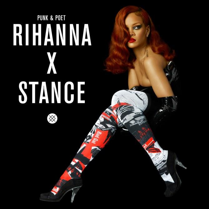 Rihanna et sa collection pour Stance.