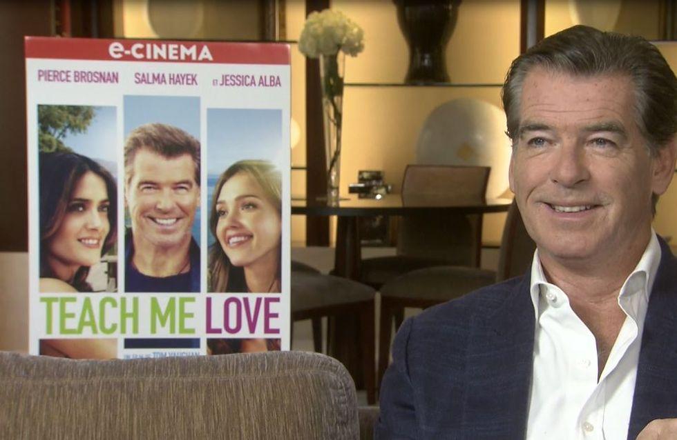 Pierce Brosnan se confie sur son rôle dans Teach Me Love (Interview Exclusive)
