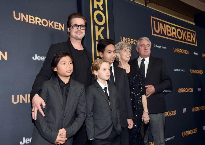 Brad Pitt et ses enfants Maddox, Pax et Shiloh