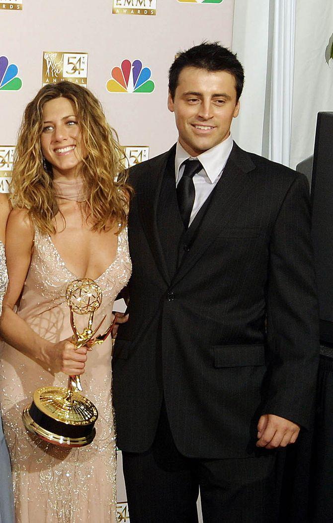 Jennifer Aniston et Matt LeBlanc en 2002