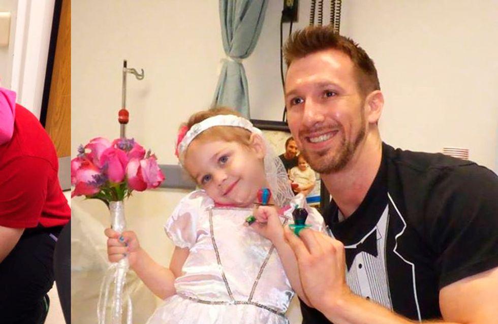 Menina com leucemia se casa com enfermeiro e derrete nossos corações