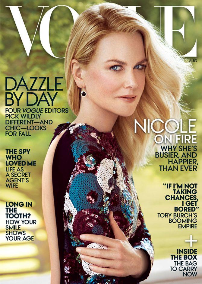Nicole Kidman pour Vogue Australie.