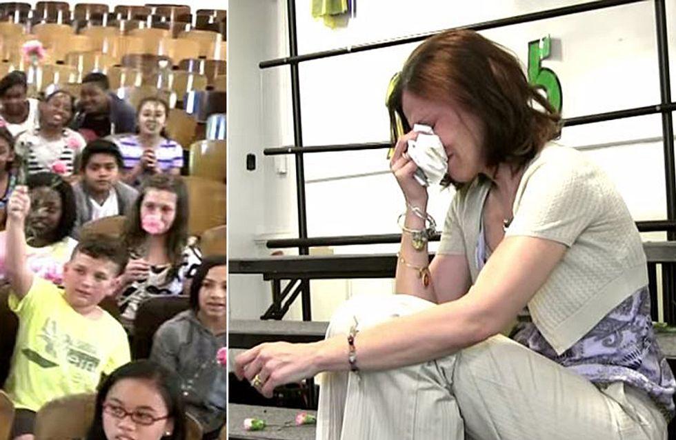 Diese Schüler rühren ihre krebskranke Lehrerin zu Tränen - der Grund dafür ist einfach herzzerreißend