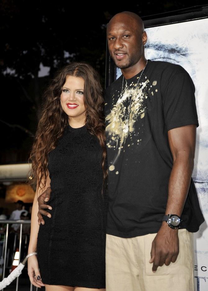 Khloé Kardashian et Lamar Odom.