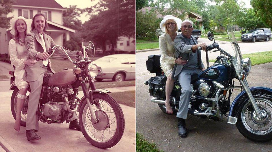 Zurück ins Jahr 1975: Nach 40 Jahren stellt dieses Paar seine Hochzeitsfotos nach