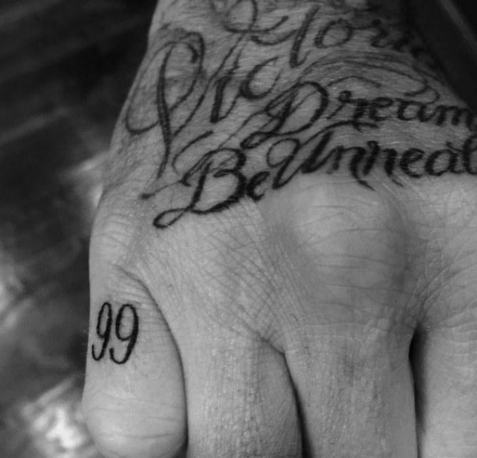 Le nouveau tatouage de David Beckham.