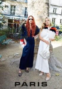 Lizzy et Georgia May Jagger dans la campagne Sonia Rykiel