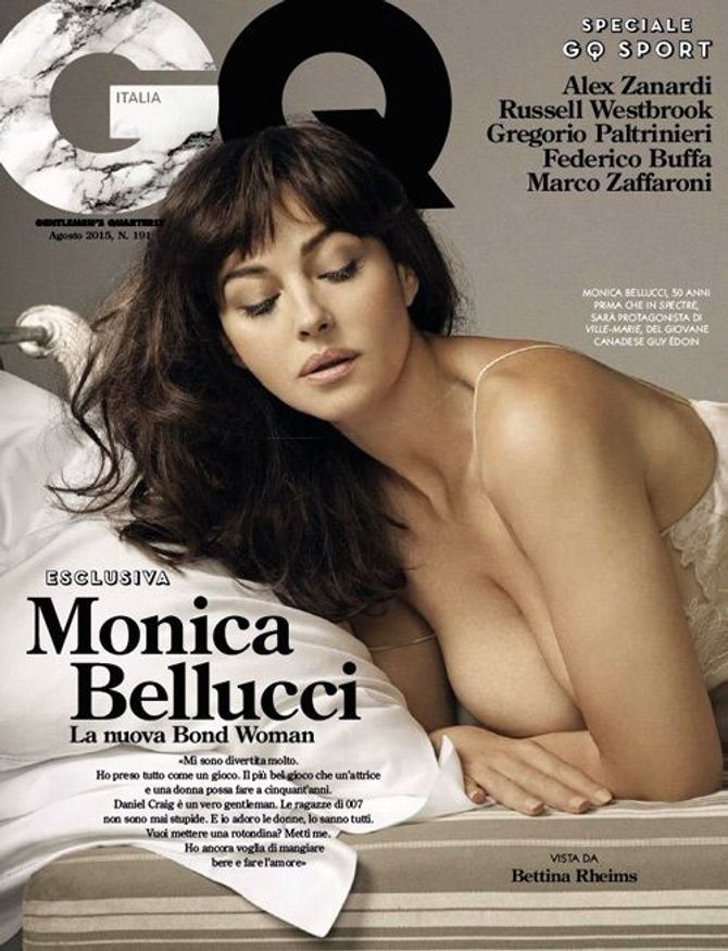 Monica Bellucci pour GQ.