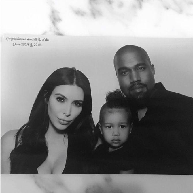 Kim Kardashian, Kanye West et North