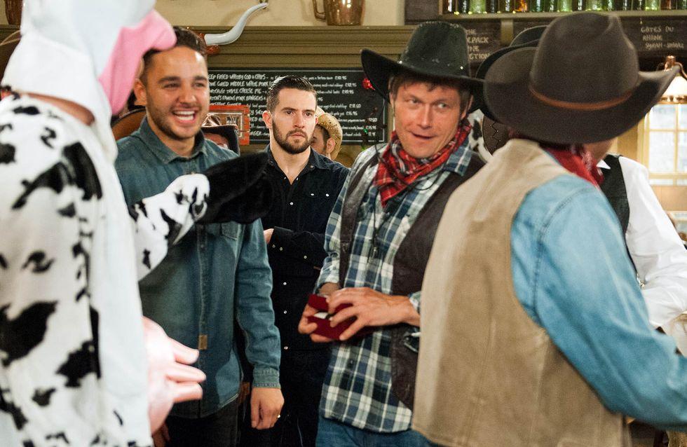 Emmerdale 3/08 - Ross sets the stage for destruction at the wedding