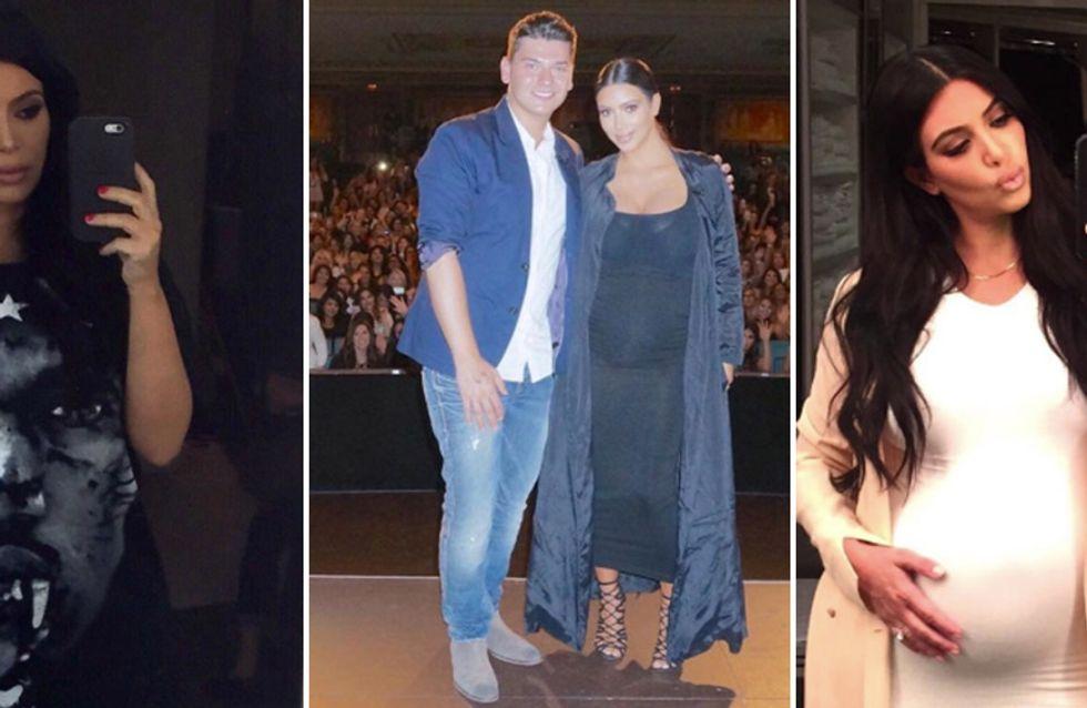 Kim Kardashian, forme sempre più over: le prime foto dell'ereditiera con il pancione!