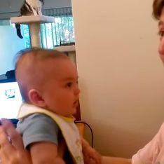 Bebê de apenas três meses surpreende seu pai ao dizer eu te amo pela primeira vez
