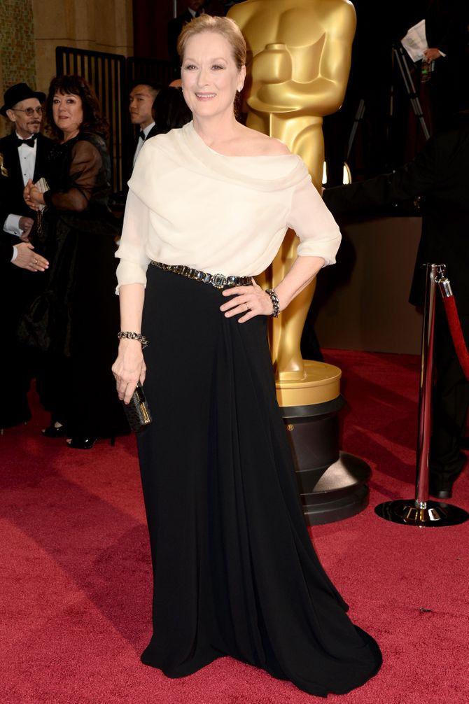 Meryl Streep sur le tapis rouge.