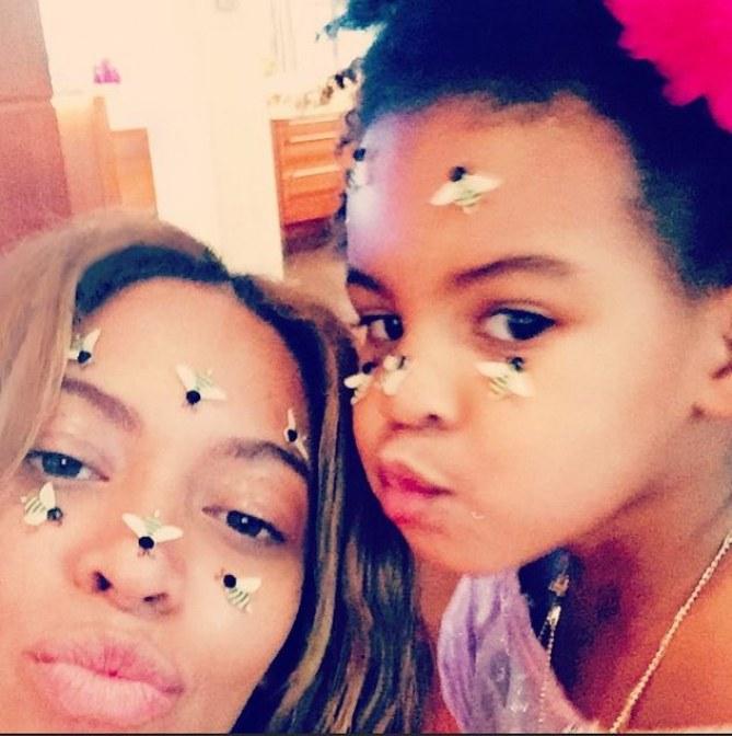 Beyoncé et sa fille.