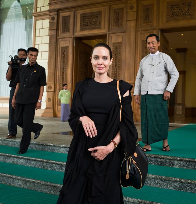 Angelina Jolie en Birmanie.
