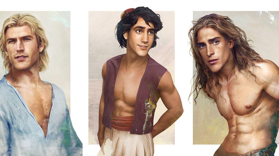 ¿Cómo serían los Príncipes Disney en la vida real?