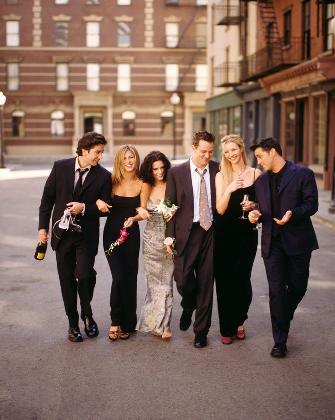 Jennifer Aniston, Matt LeBlanc, Courteney Cox, Lisa Kudrow, David Schwimmer et Matthew Perry