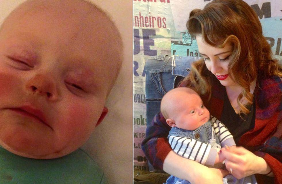 Baby mit 3-Tage-Bart: Deshalb sollte man vor dem Stillen keinen Selbstbräuner benutzen