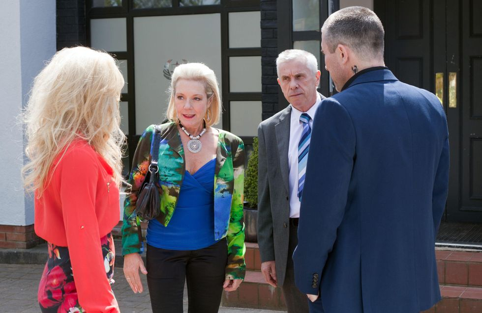 Hollyoaks 12/08 - Trevor, Grace, Frankie and Jack anxiously wait for the custody hearing to begin