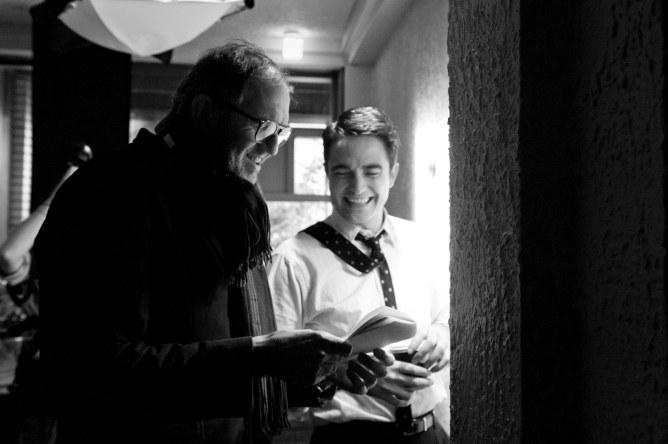 Robert Pattinson et Anton Corbjin sur le tournage de Life
