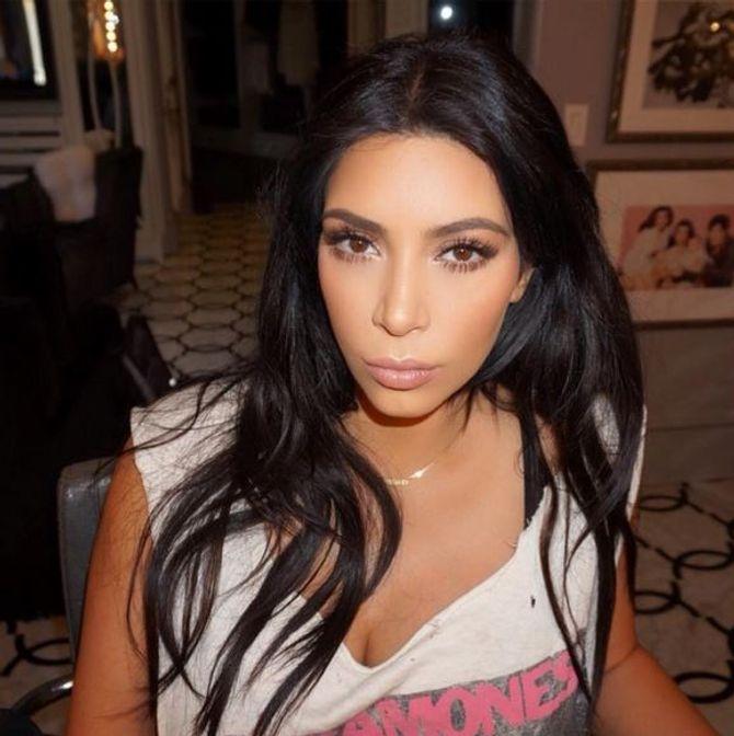 Kim Kardashian avant sa nouvelle coiffure