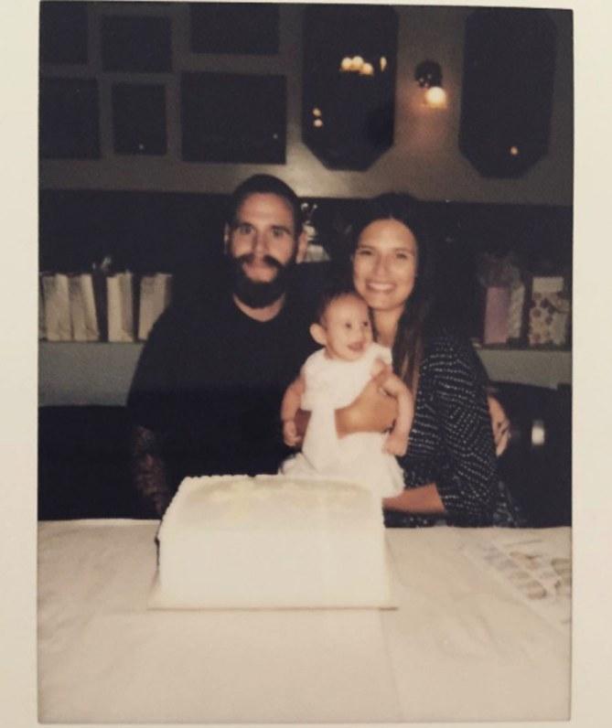 Le foto del battesimo della piccola Mia