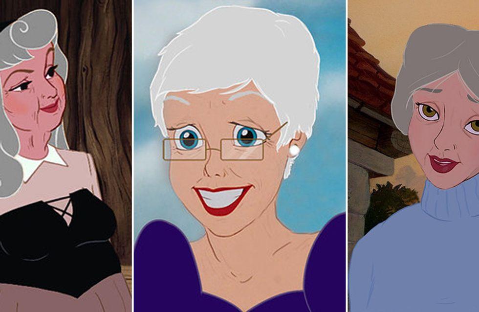 Da principesse senza tempo a tenere nonnine. Le eroine della Disney in versione terza età! Le riconoscete?