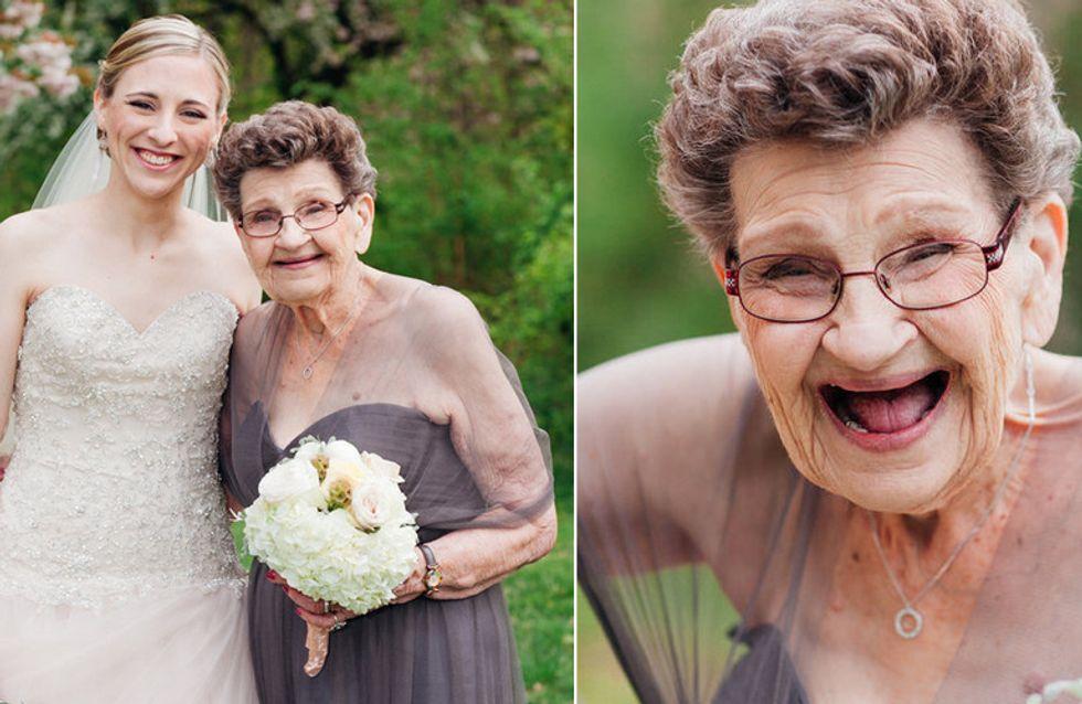 Eine unvergessliche Hochzeit: Diese 89-jährige Großmutter ist die perfekte Brautjungfer