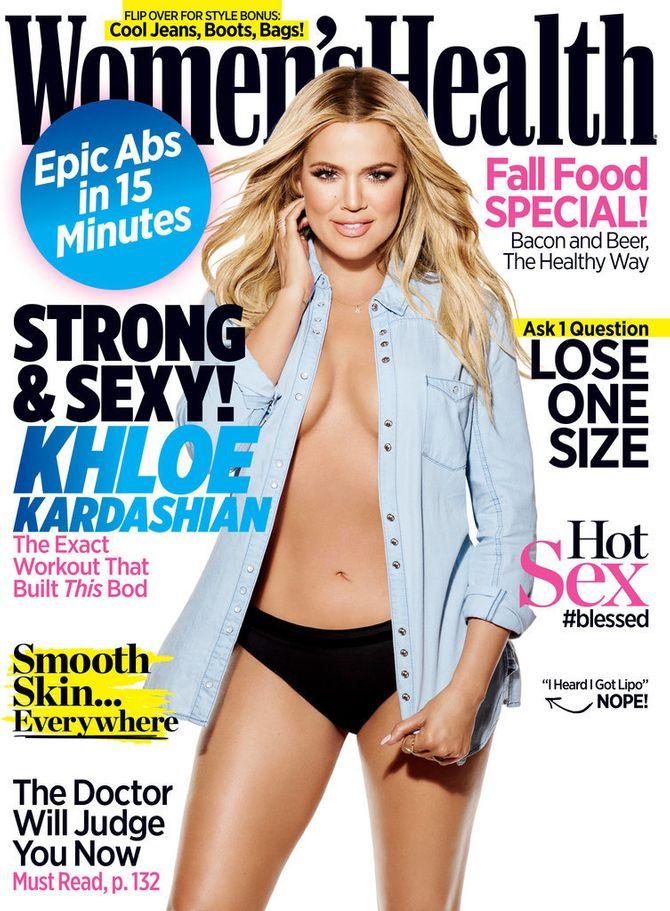 Khloé Kardashian pour Women's Health.
