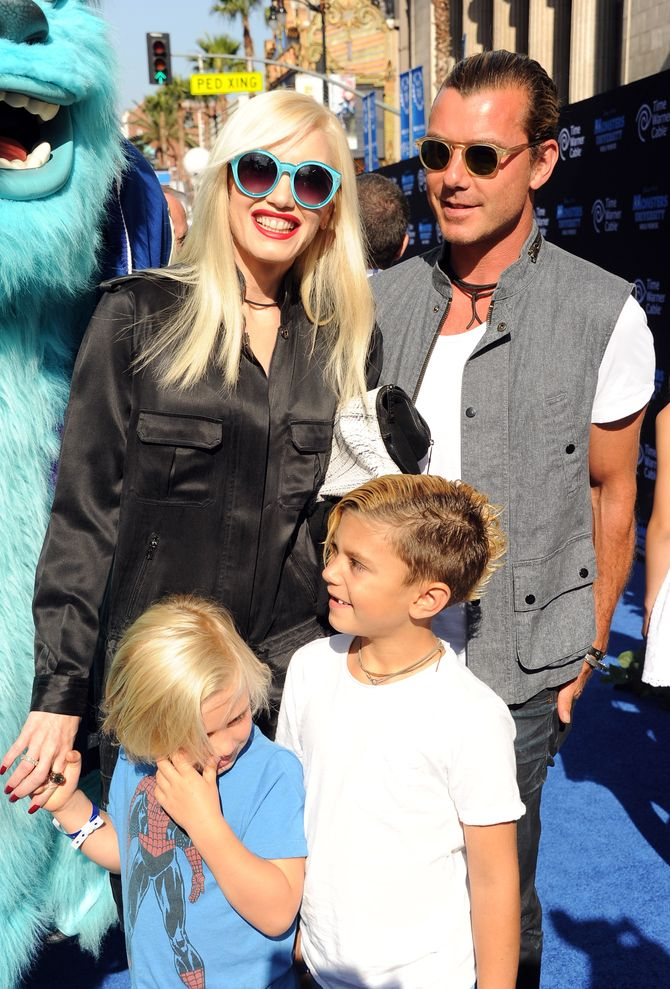 Gwen Stefani, Gavin Rossdale et leurs deux aînés, Kingston et Zuma (2013)