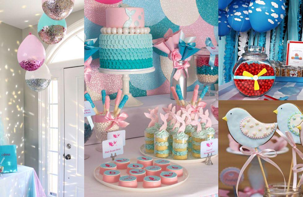 40 inspirações para uma mesa de chá de bebê ma-ra-vi-lho-sa
